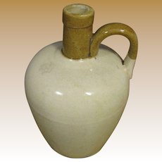 Circa 1920's 1/2 Gallon Moonshine Jug by Ben Wyvis of Scotland, Brown & Tan Glazed Stoneware