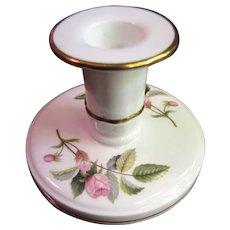 Prettiest Wedgwood Bone China Hathaway Rose Candlestick