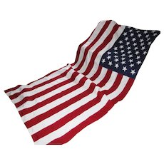 Vintage US American 50 Star Flag 5' by 9 1/2' Valley Forge Best 100% Cotton Bunting