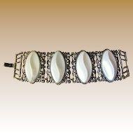 1960's Chunky Gold-tone Vintage Filigree Cuff Bracelet