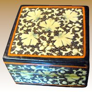 Lovely Small Hand Painted Kashmir Ring or Earring Box