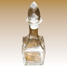 """Beautiful Cut Crystal  7 1/2"""" Cruet with Faceted Ground Stopper"""