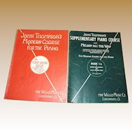 1936, John Thompson's Modern Course for the Piano - The First Grade Book & John Thompson's Supplementary Piano Course, Book 1-a, with Melody All the Way