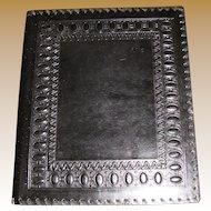 Vintage Italian Hand Tooled Hand Made Leather Music Folder