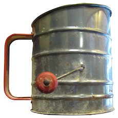 Vintage Hand Crank Flour Sifter, Made in USA