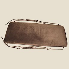 "Quality Brown Velour Piano Bench Cushion, 1 1/2"" by  35"" by 14"""