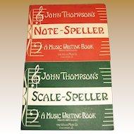 1947,Scale Speller Music Writing John Thompson Piano Beginner Lessons Book & 1946, Note Speller: A Music Writing Book Early Elementary Level by John Thompson