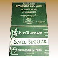 1947,Scale Speller Music Writing John Thompson Piano Beginner Lessons Book &
