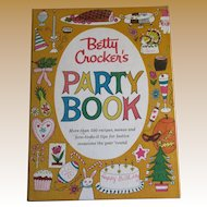"""1960, Betty Crocker's """"Party Book"""" Cook Book, 1st Edition, 1st Printing, Illustrated"""