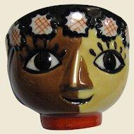 Whimsical Yoko Boeki Nippon Tea or Sake Face Cup