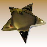 Vintage Heavy Brass Star Desk Paperweight