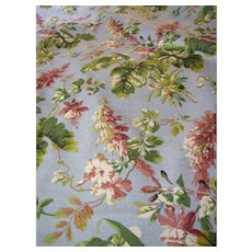 4 Yd Bolt End of Screen Printed Mid Weight Floral Fabric by Waverly