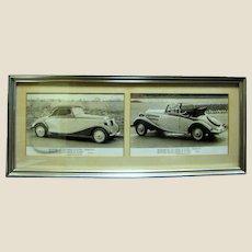 Vintage Framed Photos of Mercedes Benz Type 170V, Cabriolet A, 1936-1941