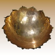 Alfredo Sciarrott Hand Made Modernist Copper Bowl