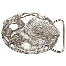 Vintage Eagle Belt Buckle by C+J Inc. 1990 USA 1541