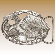 Vintage Eagle Belt Buckle by C+J Inc. 1990 USA 1541