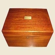 Antique Edwardian Solid Mahogany Benson & Hedges Cigar Humidor