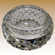 Waterford Hand Cut Lead Crystal Ashtray, Pristine