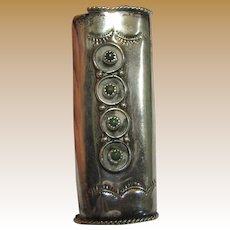 Vintage Native American Handcrafted Sterling Silver Lighter Case