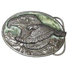 "1988 Siskiyou Belt Buckle ""The Eagle & Tthe Hawk"" from a John Denver Song"