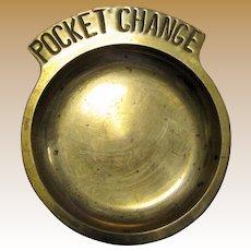 """Vintage Brass """"Pocket Change"""" Dish"""