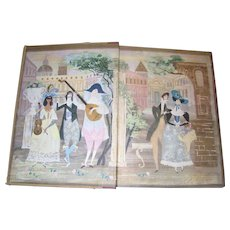 The Fireside Book of Love Songs, Hardcover, Boni - Lloyd - Provensen, 1954 1st Edition