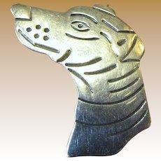 Adorable Artisan Sterling Dog Head Pin
