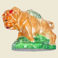 Art Deco Luster Cubist Lion Pin Cushion