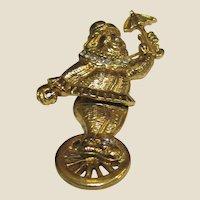 Amusing Clown on Unicycle Articulated Rhinestone Pin