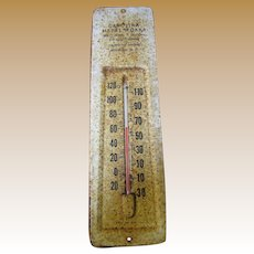 Great Old Advertising Thermometer for Carolina Metal Works of Newberry S.C.