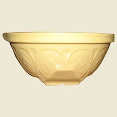 """11"""" Yellow Ware Mixing Bowl, Made in England, Gripstand by T.G. Green, Near Mint"""