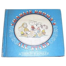 Charlie Brown's All - Stars by Charles M. Schulz, 1st Edition, 1966, Baseball Cartoons. Illustrated, HC