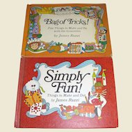 Bag of Tricks! - Fun things to make and do with the Groceries (1971) & Simply Fun! - Things To Make And Do (1968) both by James Razzi, Kids Crafts Books