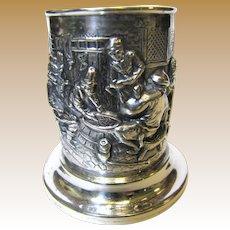 Ornate Vintage European 900 Silver Embossed Cigarette Holder