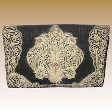 Beautiful Vintage Bullion Embroidered Clutch Handbag
