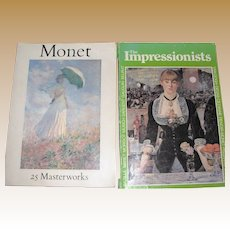 Claude Monet 25 Master Works (1982) & Impressionists and Post-Impressionists (1978), Large Books