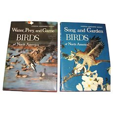 "1964, 2 Book Box Set ""Water Prey & Game Birds and Song & Garden Birds of North America, National Geographic Society"