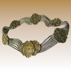 Vintage Byzantine Style Sterling Designer Bracelet by Anatoli