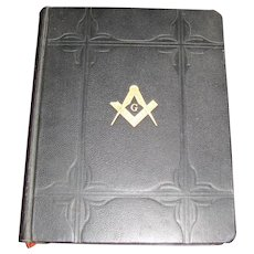 Collectible Holman Masonic Holy Bible, Copyright 1931, Leather Bound, Large, Excellent Condition