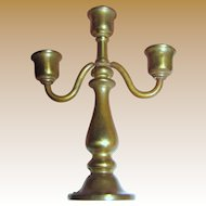 "Perfect Miniature 3"" Solid Brass Candelabra (up to 2 available)"