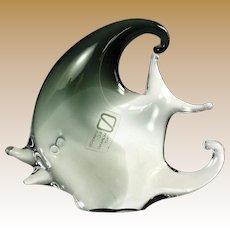 Matched PAIR of Italian Murano Glass Angel Fish by V. Nason