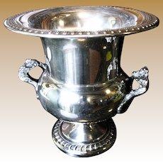 Elegant Silveplated Copper Champagne Bucket, Wine Cooler by Sheridan