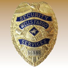 Vintage Wells Fargo Security Services Badge # 30550