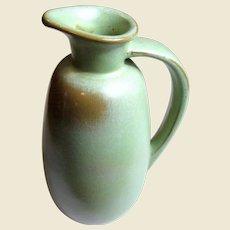 Vintage Frankoma Pottery Jug # 835, Brown & Prairie Green