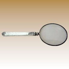 Vintage Silver Plated Magnifying Glass w/ Handle
