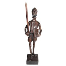 Incredibly Detailed Hand Carved Wooden Don Quixote and Pancho SOLD ...