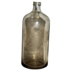 Antique Seltzer Soda Bottle, Acid Etched,  A. J. Beverages of Brooklyn N.Y., 26 oz, Made in Belgium