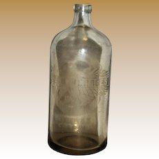 Antique Seltzer Soda Bottle, Acid Etched,  A. J. Beverages of Brooklyn N.Y., 26 oz, Made in Belgium