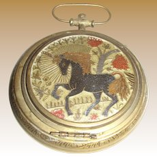 Vintage Brass Pocket Watch Ashtray