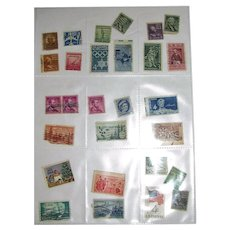 28 Different Used Postage Stamps - Mostly USA Mid-Century!